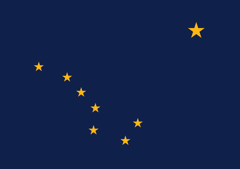 Alaska AK state flag