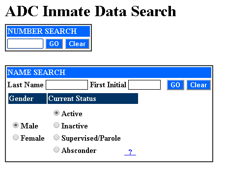 Arizona inmate search