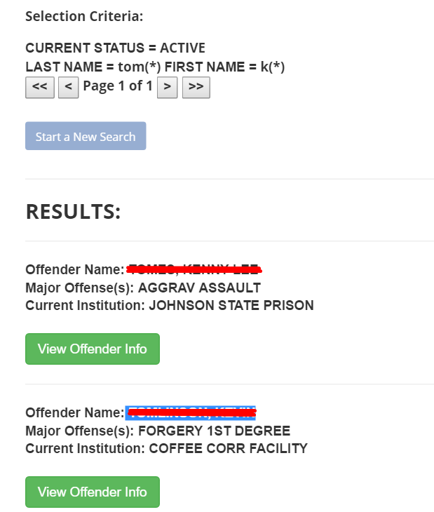 Georgia Department of Corrections Inmate Search