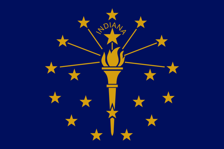 Indiana IN State Flag