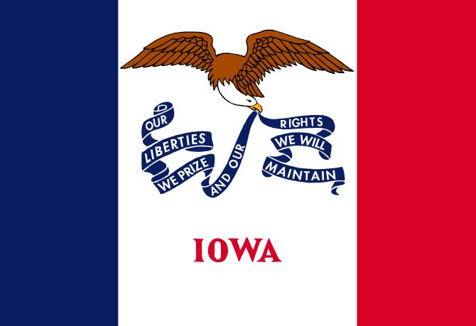 Iowa IA State Flag