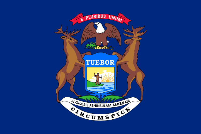 Michigan MI State Flag