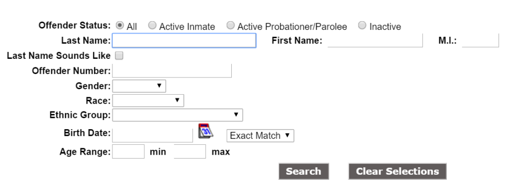 North Carolina Inmate Search - NC Department of Corrections