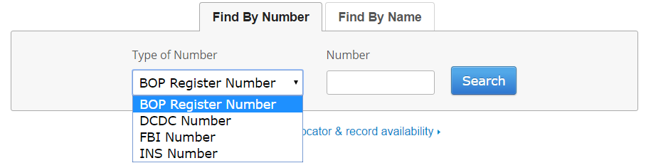 Federal Inmate Search by ID number