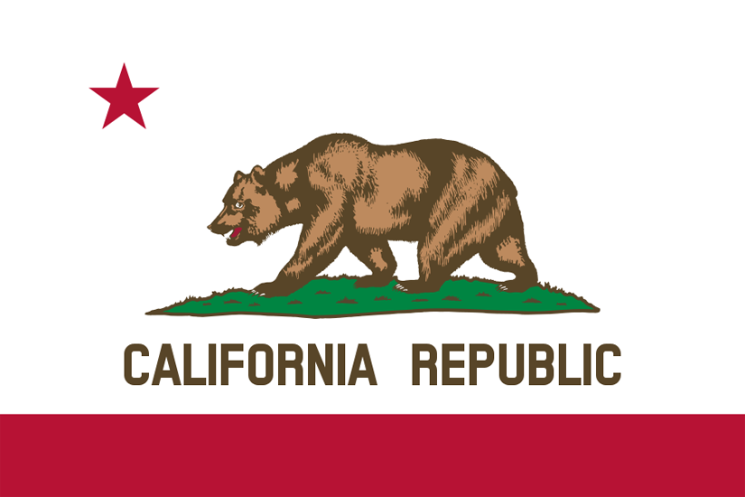 California CA state flag