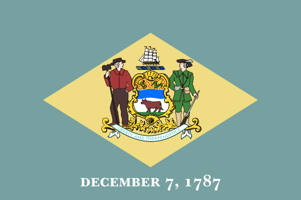 Delaware DE State Flag