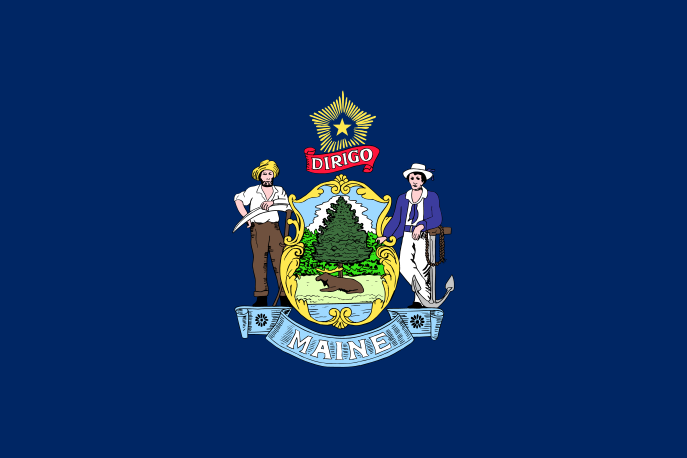 Maine ME State Flag