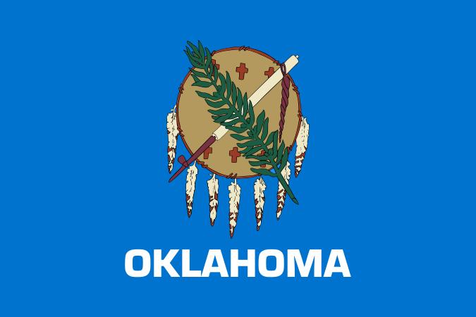 Oklahoma OK State Flag