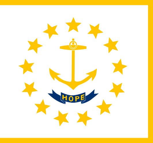 Rhode Island RI State Flag
