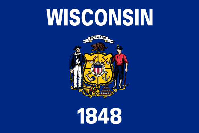 Wisconsin WI Flag