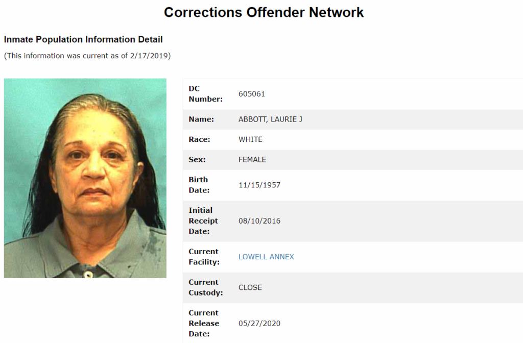 Florida inmate report