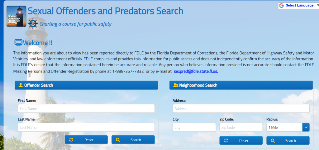 Florida Sex Offender