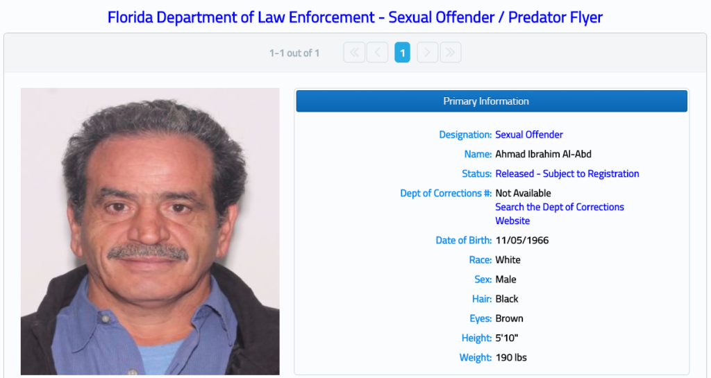 Florida Sex Offender Report