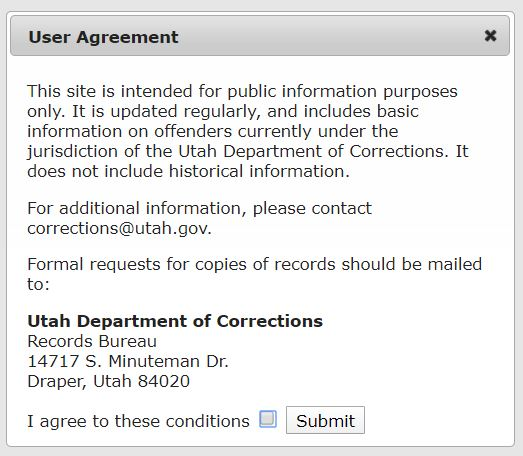 Utah Prisoner Search