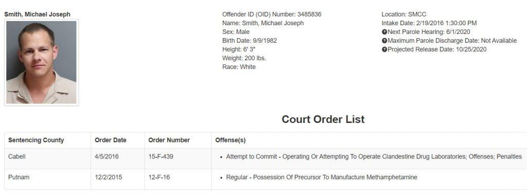 West Virginia Inmate Details