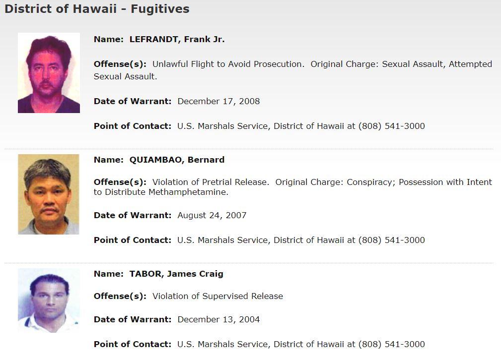 Hawaii Most Wanted