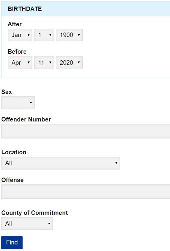 IA Inmate Search