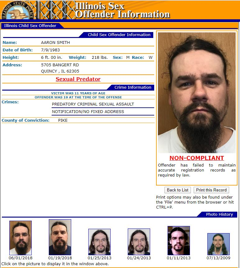 Illinois Sex Offender Search