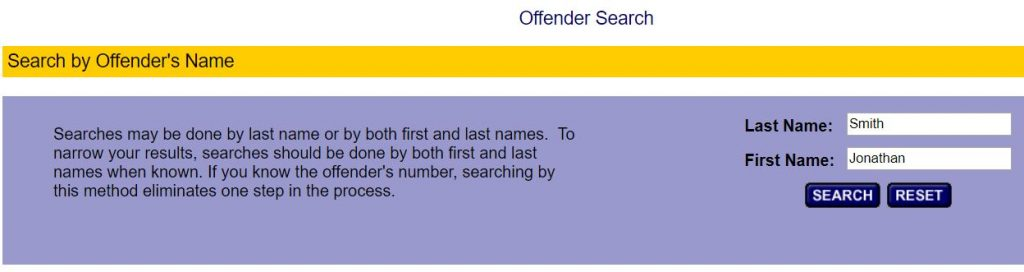 Indiana Offender Search