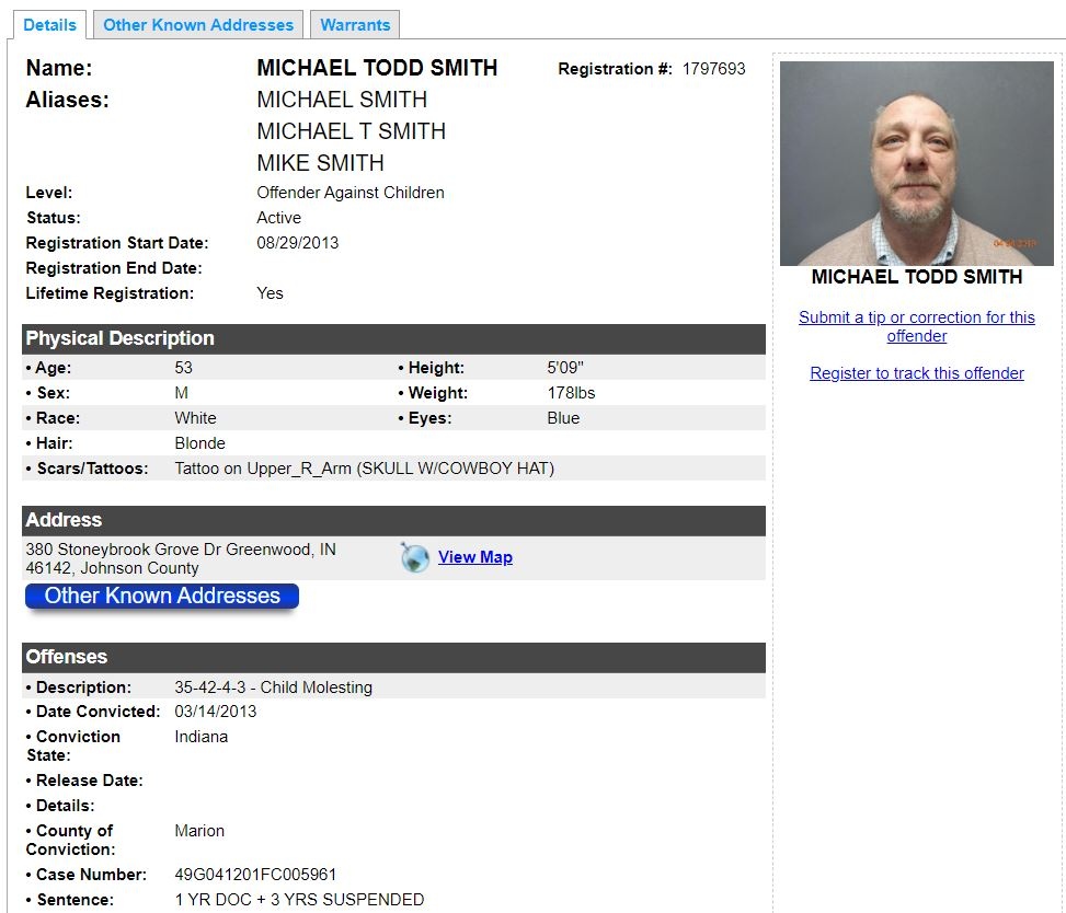 Indiana Sex Offender Search