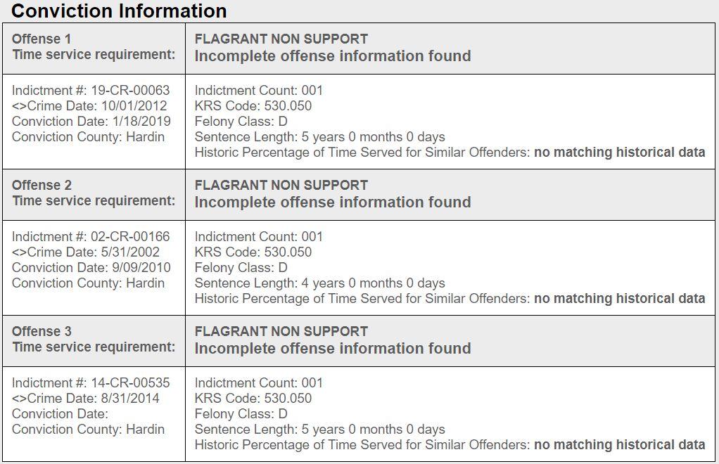 KY Prisoner Info