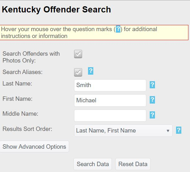 KY Prisoner Search
