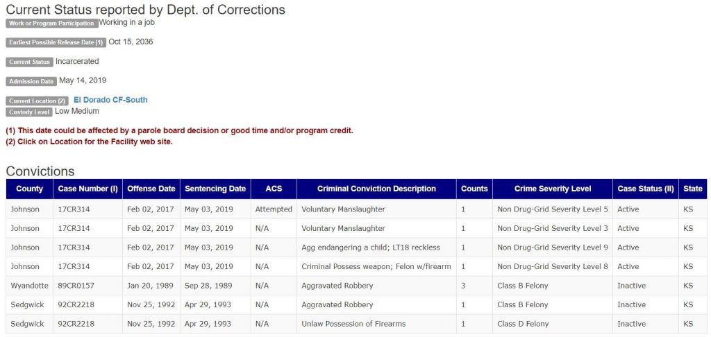 Kansas Inmate Info