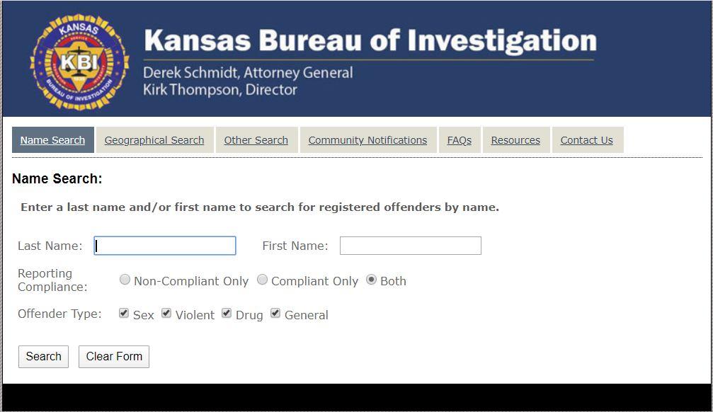 Kansas Sex Offenders