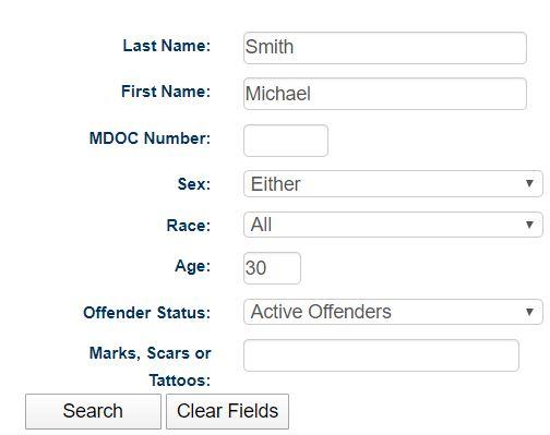 MI Inmate Search