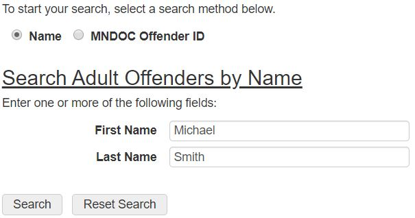 MN Inmate Search