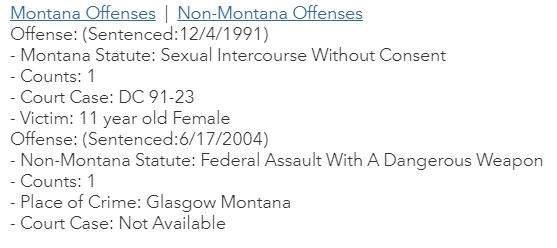 MT Sex Offender Information