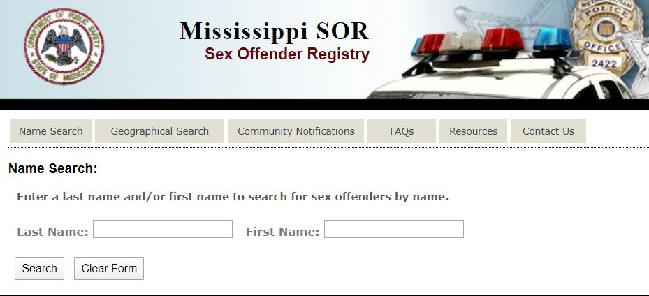 Mississippi Sex Offenders