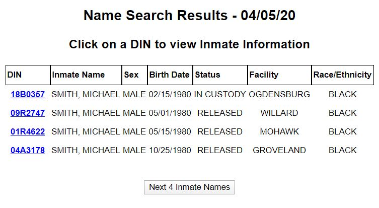 NY Inmate Search