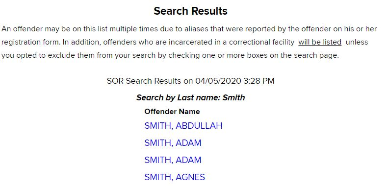 NY Sex Offender Search