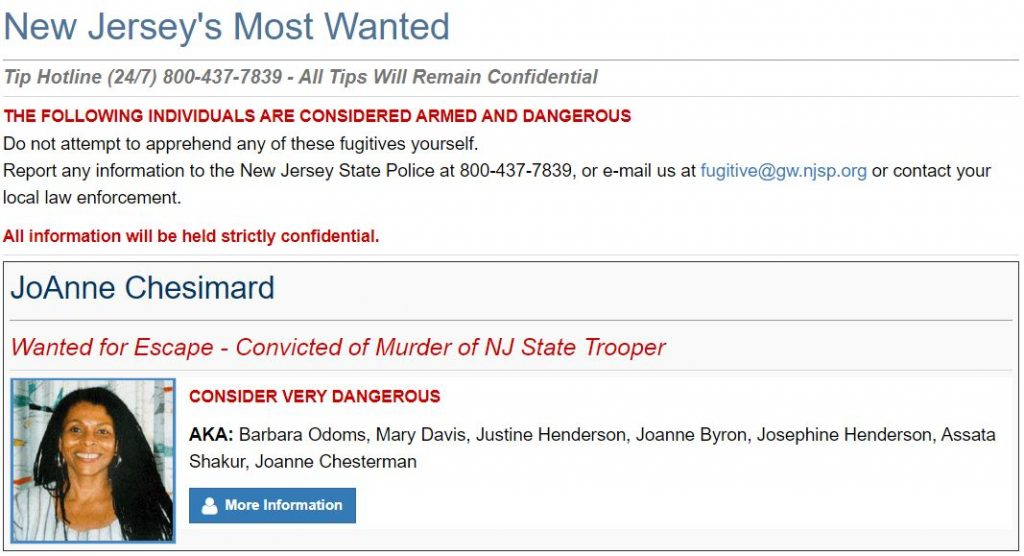 New Jersey Most Wanted