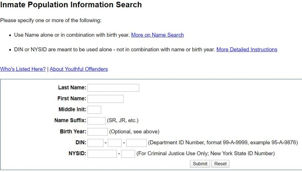 New York Inmate Search