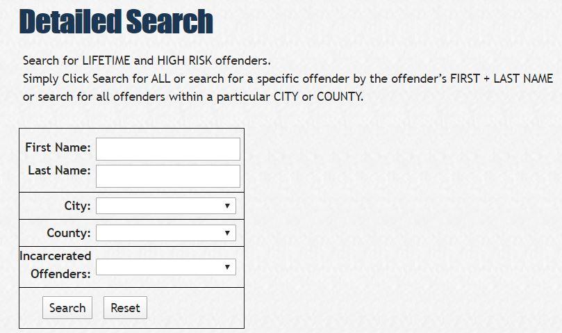 North Dakota Sex Offender Search