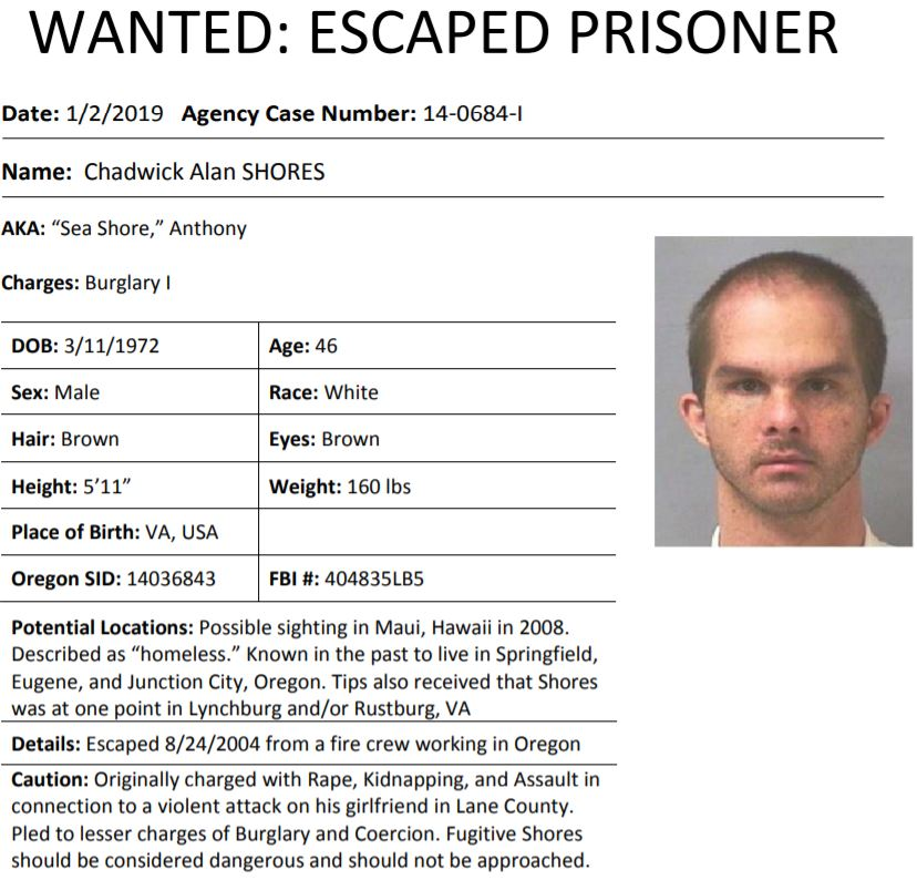 Oregon Escaped Prisoners