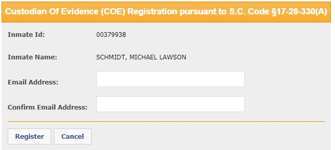 SC Custodian of Evidence