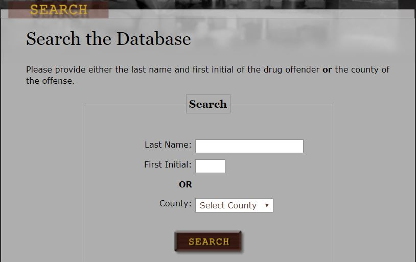 Tennessee Drug Offender Search