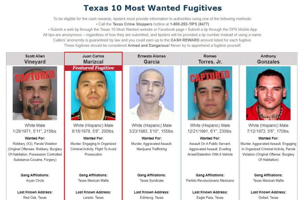 Texas Most Wanted