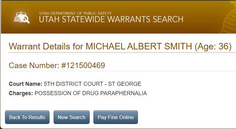 Utah Open Warrants