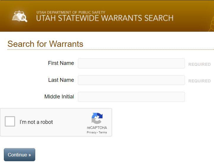Utah Warrant Search